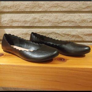 Lauren Conrad Black Vegan Leather Flats
